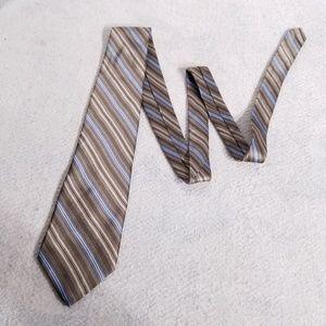 Arrow Diagonal Striped 100% Silk Neck Tie